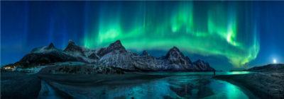Northern light over Brennviksanden