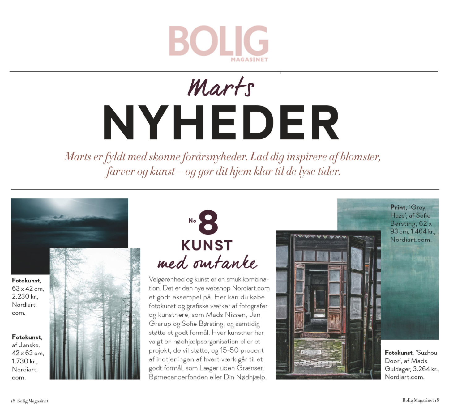 Nordi Art featured in Bolig Magasinet