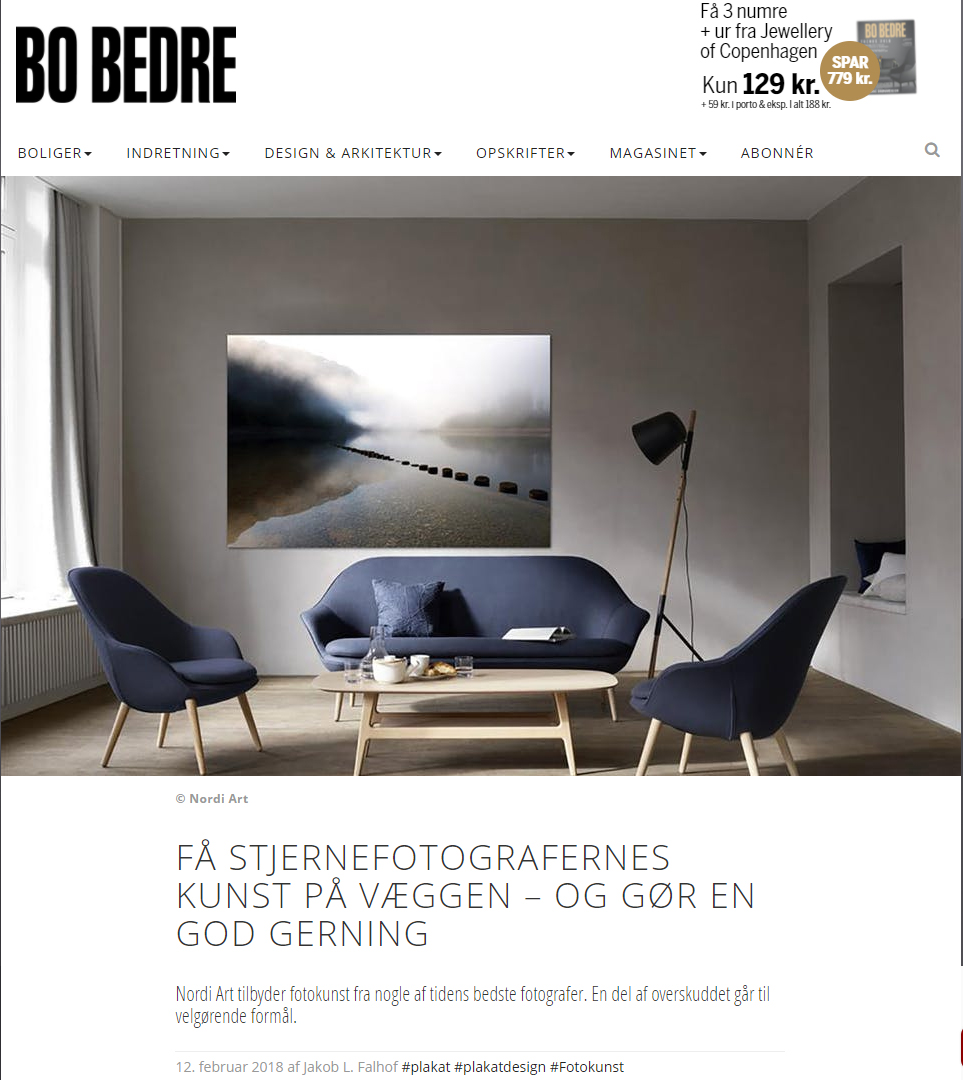 Nordi Art featured in Bo Bedre